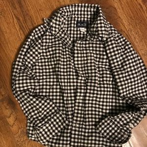 Black and white button up